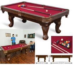 """87"""" Pool Table Billiard Billiards Set Light Cues Balls Chalk"""