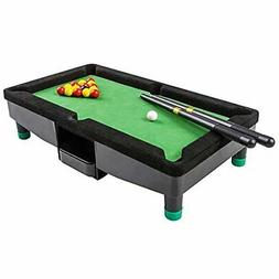 9 Inch Travel Mini Pool Table for Kids by  with 2 Sticks, 16