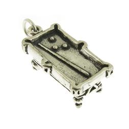 925 Sterling Silver Pool Table Billiards Charm Made in USA