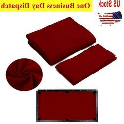 9ft Billiard Pool Table Cloth Felt w/ 6x Cushion Rail Strips