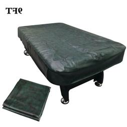 9FT Fitted Snooker Billiard Pool Table Cover Leatherette Wat