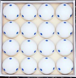 Box of 16 -  Blue 6 Dot - Spot  Pool - Billiard Practice Tra