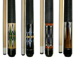 "Lot of 4 - 58 "" 2 Piece Hardwood Maple Pool Cue Billiard  Ta"