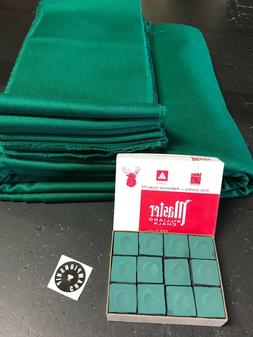 Worsted Wool GREEN Pool Table cloth for  8ft & 7ft Tables