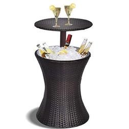 Giantex Outdoor Cool Bar Rattan Style Patio Cool Bar Table A