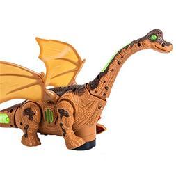 AMOFINY Baby Toys Electric Long Neck Dragon Dinosaur Animal