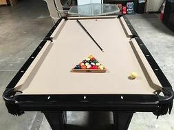 Antique Authentic American Brunswick Pool Table/ Equip/ Cue