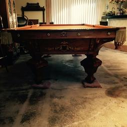 "Antique Brunswick ""Brilliant Novelty"" Pool Table"