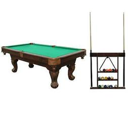 Sportcraft 7.5' Ball and Claw Billiard Pool Table with Cue R
