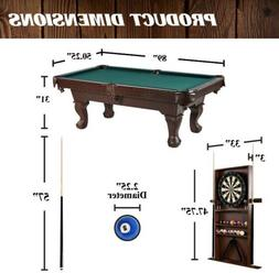 "Brand New 90"" Ball and Claw Leg Billiard Table With Bonus Cu"