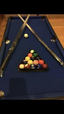 "Playcraft Sport Bank Shot 40"" Pool Table with Blue Cloth"