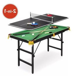 BCP 2-in-1 Ping Pong and Billiards Pool Combo Arcade Game Ta