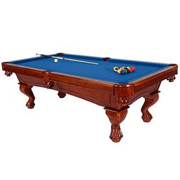 Harvil Bellagio Slate Pool Table 8-Foot with Blue Felt. Incl