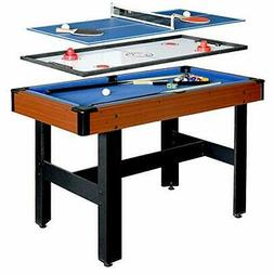 Hathaway BG1131M Triad 3-in-1 48-in Multi Game Table with Po