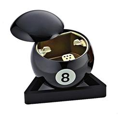 Billiard 9 ball Orange 8 Ball Black Pencil Vase / Pen Holder