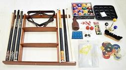 Billiard Accessory Kit - Pool Table Deluxe Pool Cue Sticks R