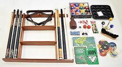 Billiard Accessory Kit - Pool Table Deluxe Pool Cue Sticks R