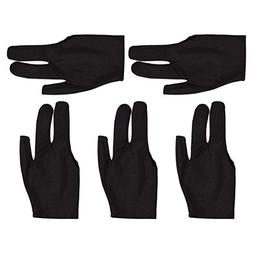 Billiard Glove, 5pcs Elastic 3 Fingers Shows Snooker Cue Sho