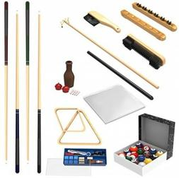 Billiard Pool Table Accessories Set Snooker Kit 32 Piece Cue