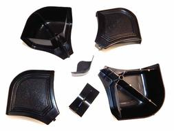 Brunswick Billiard Pool Table Black Plastic Miter Rail Cap P