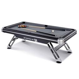 MD Sports Billiard Pool Table Set Balls Cues Chalk Brush Tri