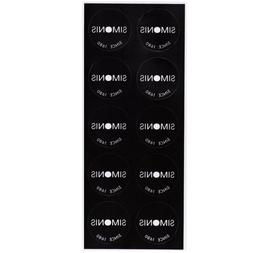 35 mm//1-3//8 Black Simonis Billiard Pool Table Spots 10 pcs Self-Adhesive