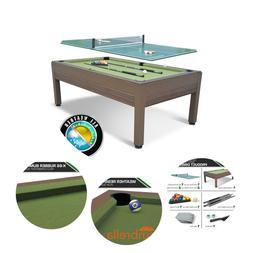 "87"" Outdoor Billiard Pool Table Weather Resistant Hand-Woven"