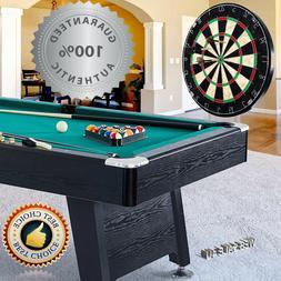 Billiard Table Pool 7 Foot w/ Cues Balls Sticks Dartboard Ac