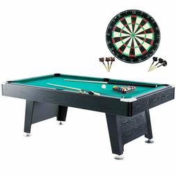 Billiard Table Accessories Bundle Pool 84'' Dartboard Game B