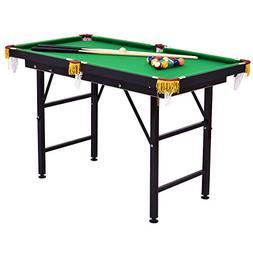 "Costzon 47"" Folding Billiard Table, Pool Game Table Includes"
