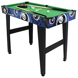 MD Sports 32 Inch Billiard Table - Includes 15 Billiard Ball