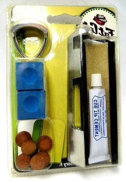 Fat Cat Billiards Pool Table Accessory Kit - Chalk, Cue Tips