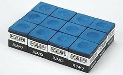 Box of 12 Blue Cubes of Pool Cue Chalk by Felson Billiard Su
