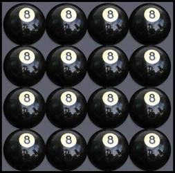 box of 16 8 pool table billiard