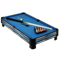 breakout 40 in tabletop pool table blue
