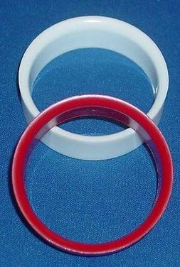 Bumper Pool Table Hole Cup Liners - Red & White - Free Shipp