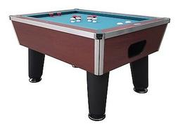 bumper pool table in cherry slate professional