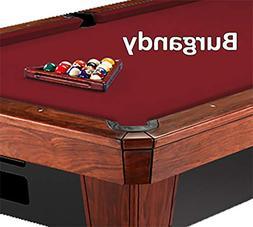 9' Burgundy Simonis 860 Tournament Billiard Table Cloth