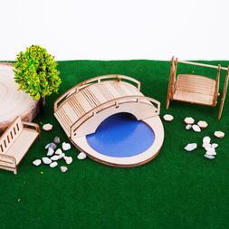 Chair <font><b>Assembled</b></font> Pavilion Wooden Swing Fu