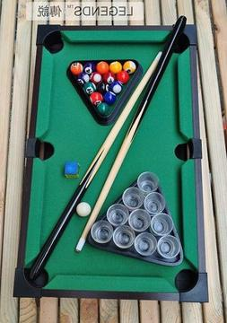 Child Mini Toy Table Top Pool Table Cues Triangle Chalk 50 x