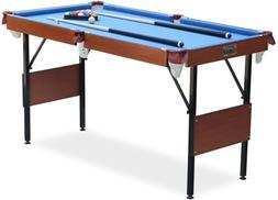 Rack Crux Foldable 4.5-Foot Billiard/Pool Table, Includes Co