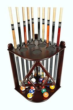 Cue Rack Only - 10  Pool - Billiard Stick & Ball Floor Rack