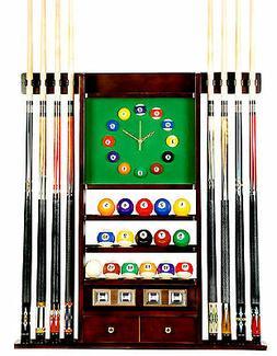 Cue Rack Only - 8 Pool - Billiard Stick & Ball Wall Rack W C