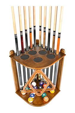 Cue Rack Only - 10  Pool - Billiard Stick & Ball Floor Rack