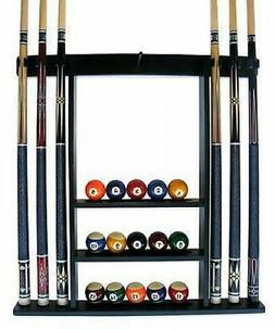 Cue Rack Only - 6 Pool - Billiard Stick + Ball Set Wall Rack