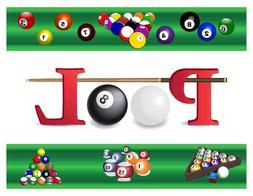 Custom Made T Shirt Pool Table Top Balls Cue Stick Game Spor
