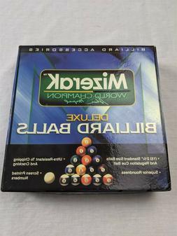 "Mizerak Deluxe Billiard Balls Set 2 1/4"" Standard Size Pool"