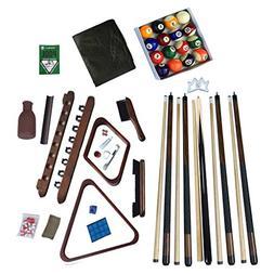 Hathaway Deluxe Billiards Accessory Kit, Walnut Finish