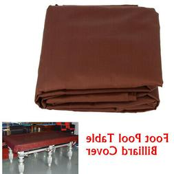 Durable 8-Foot Pool Table Billiard Cover 210D Polyester Oxfo