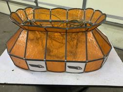 Dynamo Foosball Table Light Leaded Glass Pool Table Light